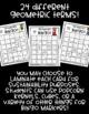 Geometry BINGO! 32 Different Cards!!! Practice Math Vocabu