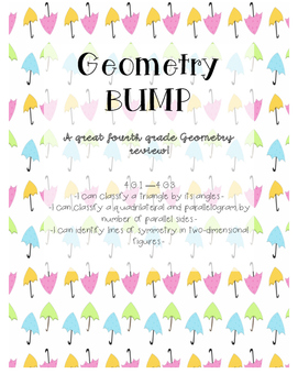 Geometry BUMP Math Game- Comon Core Alligned- Great REVIEW