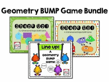Geometry  BUMP Game BUNDLE for Math Centers or Fast Finishers