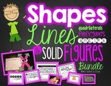 Geometry BUNDLE {Lines, Angels, Polygons, Quadrilaterals, 2D 3D Shapes}
