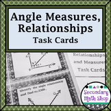 Angle Relationships and Measures (Beginning Concepts) Task Cards