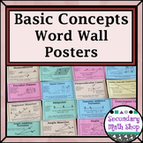 Beginning Concepts Word Wall Posters