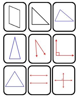 Geometry Basic Shapes Matching Game
