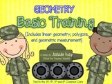 Geometry Basic Training - Common Core - Linear, Polygons, 3D Shapes, Measurement