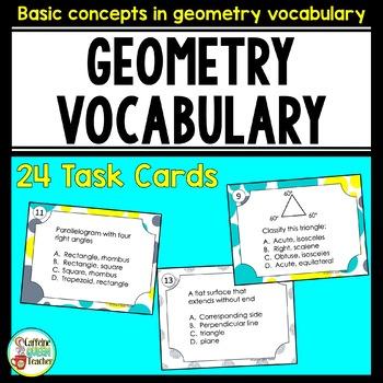 Geometry Basic Vocabulary Terms