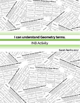 Geometry Basics Concept Sort