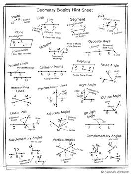 Geometry Basics Hint Sheet