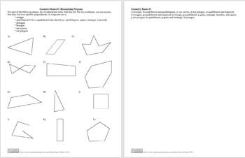 Geometry Basics II: Recognizing Polygons