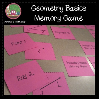Geometry Basics Memory Game - Differentiated