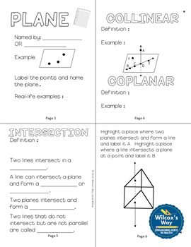 Geometry Basics Folding Notes and Stations Activity