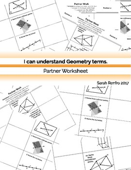 Geometry Basics Partner Worsheet