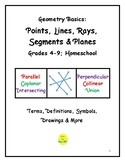 Geometry Basics: Points, Lines, Segments, Rays & Planes