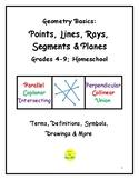 Geometry Basics: Points, Lines, Segments, Rays & Planes