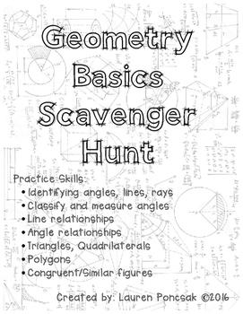 Geometry Basics Scavenger Hunt
