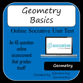 Geometry Basics Test-Socrative: Points, Lines, Planes, Polygons, Angles