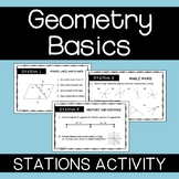 Geometry Basics Stations Activity - Points Lines and Planes