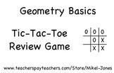 Geometry Basics Tic-Tac-Toe Activity