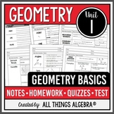 Geometry Basics: Points, Lines, Planes, Angles (Geometry - Unit 1)