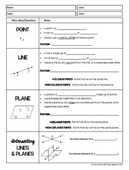 Geometry Basics: Points, Lines, Planes, Angles (Geometry Curriculum - Unit  1)