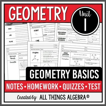 Geometry Basics: Points, Lines, Planes, Angles (Geometry -
