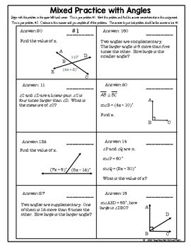 Geometry Beginning Angles Scavenger Hunt in Your Seat