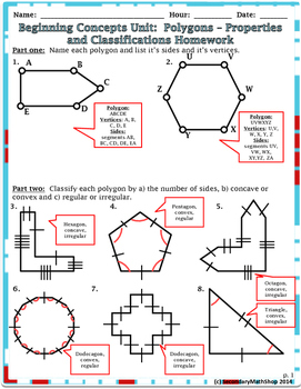 Beginning Concepts. #5 Polygons: Properties/Classify/Perimeter  Notes/Hmwk