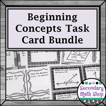 Beginning Concepts Task Card Bundle!