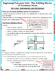 Beginning Concepts  #1 - Building Blocks of Geometry Notes