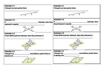 Geometry Beginning Theorem NOTES EDITABLE