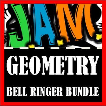 Geometry Bell Ringer Packet Bundle (Complete School Year) Do Now Problems