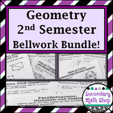 Geometry (2nd semester) Bellwork / Station Cards BUNDLE!