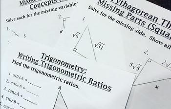 Geometry (2nd semester) Bellwork / Station Cards BUNDLE!