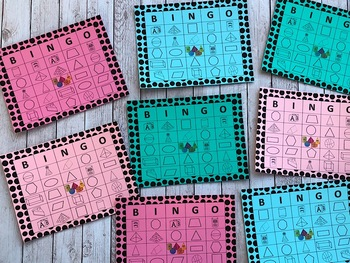 Geometry Bingo - 25 Unique Playing Cards