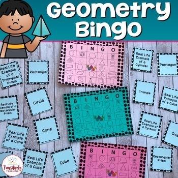 Geometry Bingo - 25 Unique Playing Cards