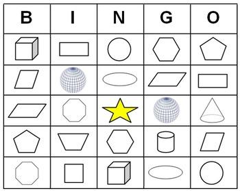Geometry Bingo Cards