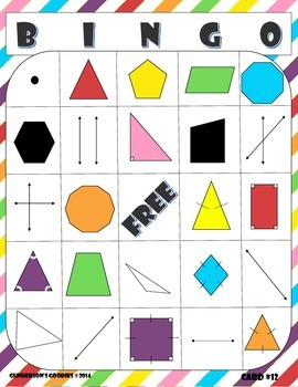 Geometry Bingo - Level One