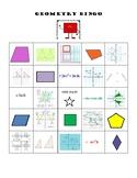 Geometry Bingo (Math 7)
