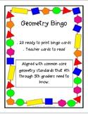 Geometry Bingo (Print and Use)