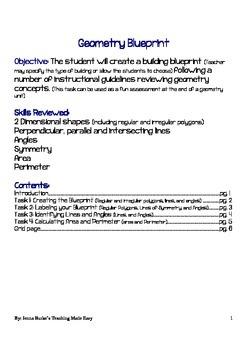 Geometry Blueprint Unit