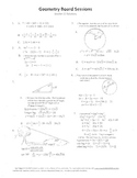 Geometry Board Session 11,SAT,ACT,chords,circles,right triangles