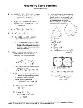 Geometry Board Session 14,SAT,ACT,hexagon,tangent circles,trapezoids