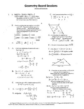 Geometry Board Session 6,SAT,ACT,rhombus,angle work,exponents,triangle median