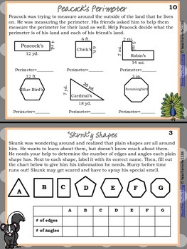 Geometry Booklet-Animals of All Shapes and Sizes
