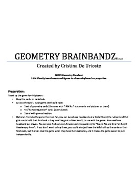 Geometry BrainBandz Game