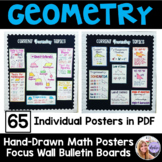 Geometry Bulletin Board Posters for a Focus Wall - Hand-Drawn