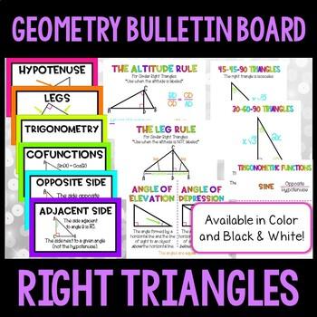 Geometry Bulletin Board - Right Triangles