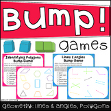 Geometry Bump Games: Lines and Angles, Identifying Polygons (2 separate games)