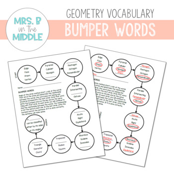 Geometry Bumper Words