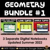Lines, Line Types, Angle Types Google® Geometry Bundle #1