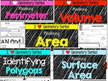 Geometry Bundle - Perimeter, Volume, Area, Polygons and Surface Area